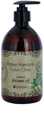 Barwa Harmony Green Olive óleo de duche sem parabenos