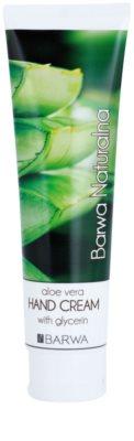 Barwa Natural Aloe Vera creme regenerador   para mãos e unhas