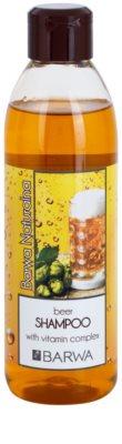 Barwa Natural Beer champô com vitaminas para cabelo brilhante e macio