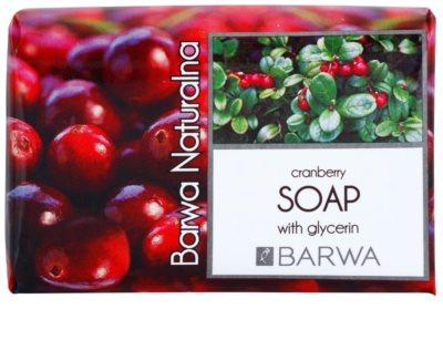 Barwa Natural Cranberry mydło w kostce z gliceryną