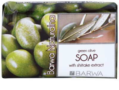 Barwa Natural Green Olive sabonete sólido com efeito alisador