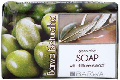Barwa Natural Green Olive tuhé mydlo s vyhladzujúcim efektom