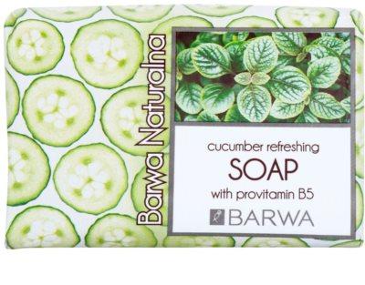 Barwa Natural Cucumber Refreshing mydło z prowitaminą B5