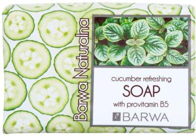 Barwa Natural Cucumber Refreshing szilárd szappan B5 provitaminnal