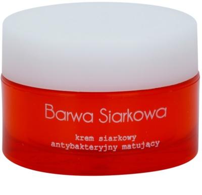 Barwa Sulphur crema antibacteriana pentru ten gras si problematic