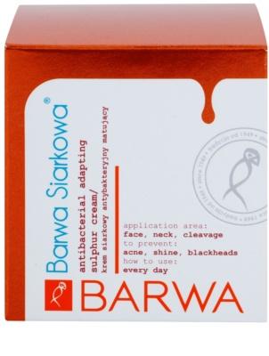 Barwa Sulphur creme antibacteriano para pele oleosa e problemática 2
