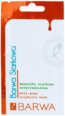 Barwa Sulphur antibakterijska maska za normalizacijo kože proti aknam