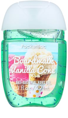 Bath & Body Works PocketBac Boardwalk Vanilla Cone Gel antibacterial pentru maini.