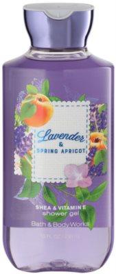 Bath & Body Works Lavander & Spring Apricot sprchový gel pro ženy