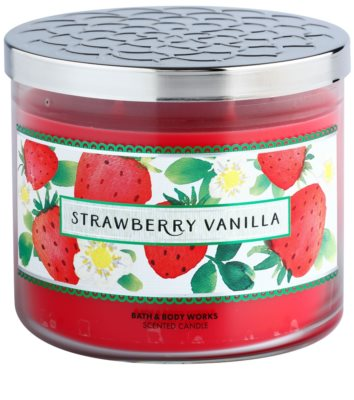 Bath & Body Works Strawberry Vanilla vela perfumada