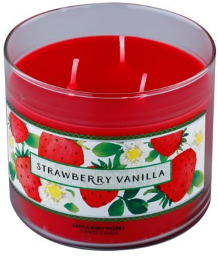 Bath & Body Works Strawberry Vanilla Scented Candle 1