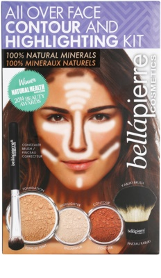 BelláPierre All Over Contour and Highlighting Kit set cosmetice I.