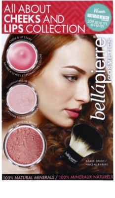 BelláPierre All About Cheeks and Lips Collection Coral Collection kosmetická sada II.