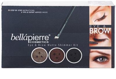 BelláPierre Eye & Brow Matte Shimmer Kit козметичен пакет  I. 2