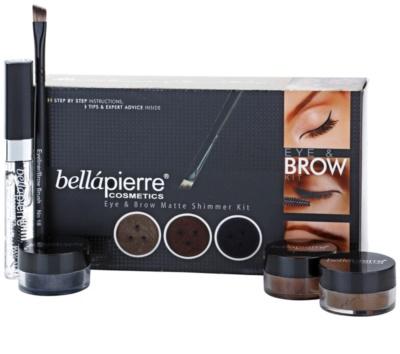 BelláPierre Eye & Brow Matte Shimmer Kit козметичен пакет  I.