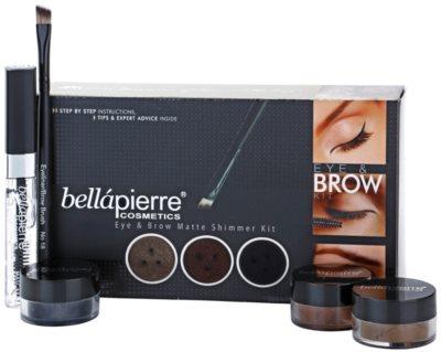BelláPierre Eye & Brow Matte Shimmer Kit lote cosmético I.