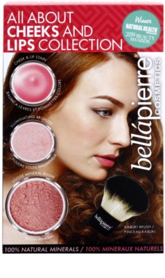 BelláPierre All About Cheeks and Lips Collection Pink Collection lote cosmético I.