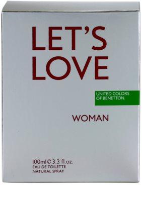 Benetton Let's Love Eau de Toilette für Damen 4