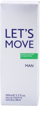 Benetton Let´s Move Eau de Toilette für Herren 4