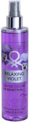 Benetton Relaxing Violet tělový sprej pro ženy