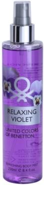 Benetton Relaxing Violet testápoló spray nőknek
