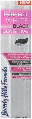 Beverly Hills Formula Perfect White Black Sensitive wybielająca pasta do zębów z aktywnym węglem dla wrażliwych zębów 2