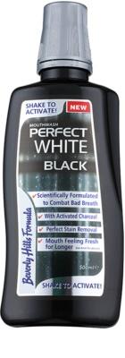 Beverly Hills Formula Perfect White Black bleichendes Mundwasser mit Aktivkohle für frischen Atem