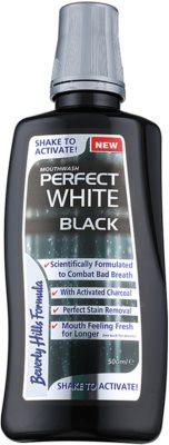 Beverly Hills Formula Perfect White Black elixir bocal branqueador com carbono ativo para hálito fresco