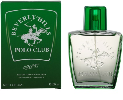Beverly Hills Polo Club Green Colours Eau de Toilette para homens