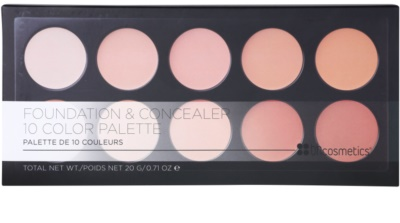 BHcosmetics 10 Color paleta corectoare 2