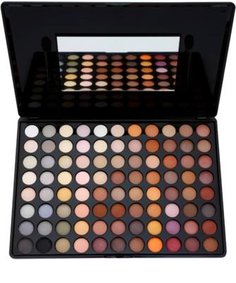 BHcosmetics 88 Color Neutral paleta de sombras de ojos con un espejo pequeño