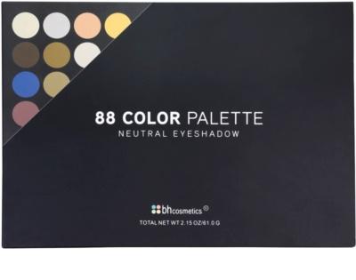 BHcosmetics 88 Color Neutral paleta farduri de ochi cu oglinda mica 3