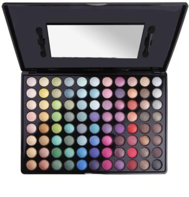 BHcosmetics 88 Color Shimmer paleta de sombras de ojos con un espejo pequeño