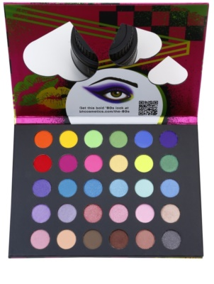BHcosmetics Eyes on the ´80s paleta farduri de ochi