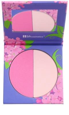 BHcosmetics Floral blush com espelho pequeno