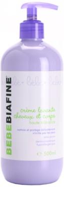 Biafine Bebe crema limpiadora para niños  para cuerpo y cabello