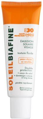Biafine Soleil zaščitni fluid za zelo občutljivo in svetlo kožo  SPF 30