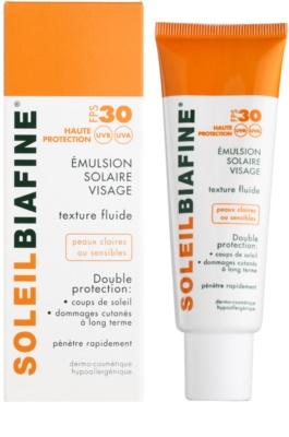 Biafine Soleil schützendes Fluid für sehr empfindliche und helle Haut SPF 30 1