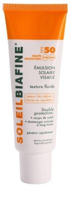 Biafine Soleil emulzija za sončenje za obraz SPF 50