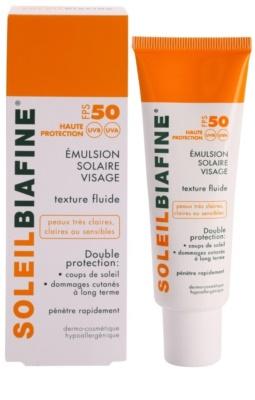 Biafine Soleil opalovací emulze na obličej SPF 50 1