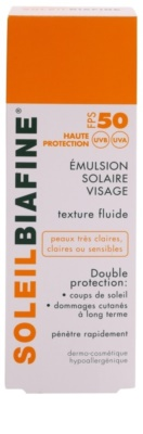 Biafine Soleil opalovací emulze na obličej SPF 50 2