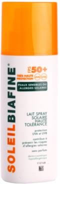 Biafine Soleil spray de bronzat pentru piele alergica la soare SPF 50+