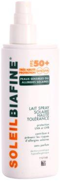 Biafine Soleil spray solar para pele alérgica ao sol SPF 50+ 1