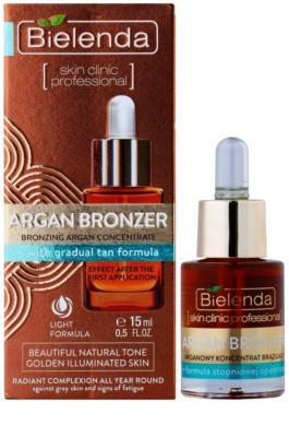 Bielenda Skin Clinic Professional Argan Bronzer олійка для автозасмаги для обличчя 1