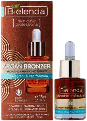 Bielenda Skin Clinic Professional Argan Bronzer ulei bronzant fata 1