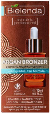 Bielenda Skin Clinic Professional Argan Bronzer ulei bronzant fata 2