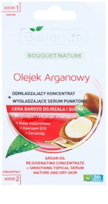 Bielenda Argan Oil pomlajevalni koncentrat + gladilni serum za zrelo kožo