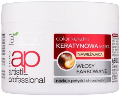 Bielenda Artisti Professional Color Keratin Hydratisierende Maske für gefärbtes Haar
