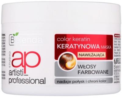 Bielenda Artisti Professional Color Keratin зволожуюча маска для фарбованого волосся