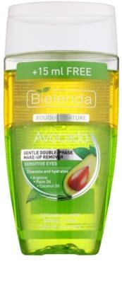 Bielenda Avocado делікатний двофазний засіб для зняття макіяжу для чутливих очей